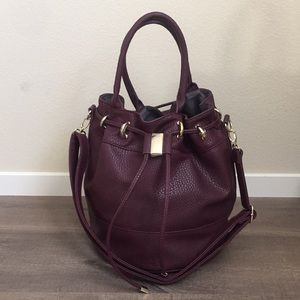 NEW JustFab Marsala wine burgundy hobo large bag